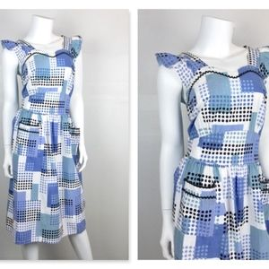 Vintage 1940's 1950's Cotton Pinafore Dress, Sz M